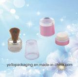 Cassa allentata della polvere del pacchetto cosmetico del contenitore delle estetiche del recipiente di plastica (YELLO-168)