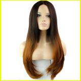 Perucas longas do cabelo reto da forma humana européia de 100%