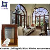 Finestra di alluminio per obbligazione domestica, finestra di legno placcata di alluminio della stoffa per tendine di Inswing della stoffa per tendine per il nostro cliente dell'Afghanistan