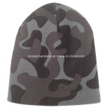 Le logo fait sur commande de produit d'OEM a imprimé le chapeau tricoté de Beanie adapté aux besoins du client par sports verts d'armée
