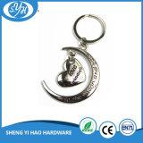 Corrente chave de lembrança personalizada com liga de zinco com bolsa de veludo