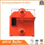 Grelha Chain, controle do PLC, caldeira de vapor horizontal da pelota da biomassa da microplaqueta de madeira