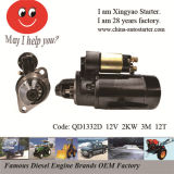 Changchai Single Cylinder Engine 12V 0.8kw Starting Motor (QD1332)