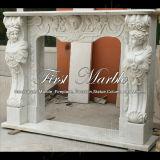 훈장 Mfp-266를 위한 백색 Carrara 조각품 벽난로