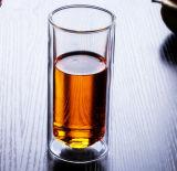 taza de cristal del agua de la pared doble respetuosa del medio ambiente 400ml