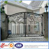 Puertas revestidas de la entrada de la seguridad del hierro labrado del polvo