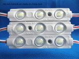 Módulo 3chips preto da cor DC12V 1.2W 5730