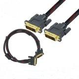 Gold-Plated High Speed 2m защищающ двойной кабель соединения DVI