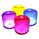 방수 10LEDs 팽창식 태양 손전등 또는 휴대용 태양 천막 램프