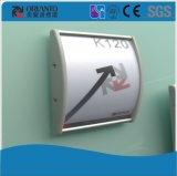 Aluminium anodisiertes Silber gebogenes an der Wand befestigtes Zeichen