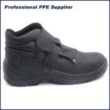 Zapatos de seguridad de acero del soldador de la punta de la inyección de la PU