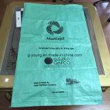 Trois couches ont estampé le sac de papier de Brown emballage, sac à emballage de métier avec le logarithme naturel