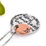 Monili Pendant d'ispirazione di modo della collana del messaggio dei monili resi personali collana dell'argento sterlina 925 per le donne