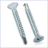 Стальной квадратный винт Собственн-Drilling головки лотка с плакировкой цинка