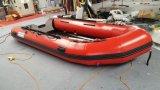 il peschereccio della barca gonfiabile di 4.3m, la nave di soccorso, la barca di sport, barca poco costosa con il motore esterno, sceglie il pavimento differente