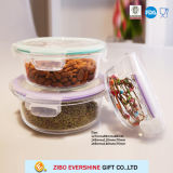 Pac à légumes en verre rond pour le réfrigérateur de mémoire de fruit de nourriture