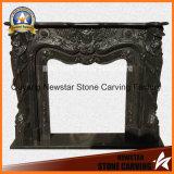 Bordure de marbre de cheminée de granit de mantel de cheminée