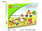 多彩なパッケージが付いているプラスチック就学前の建物の農場のブロックのおもちゃ