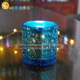 Hitzebeständiger blauer Glaskerze-Halter
