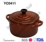 装飾的な2音色の鍋