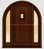 Artisan Style Exterior Solid Wooden Door avec Two Side Lites