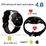 IP54 imperméabilisent le téléphone intelligent de montre de Bluetooth avec la fréquence cardiaque (K88S)
