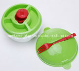 Plastiksalat-Cup mit Gabel, Plasticsalad, das Schüttel-Apparat kleidet