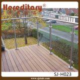 304 barandillas del balcón del vidrio Tempered del acero inoxidable para la alameda de compras (SJ-H018)