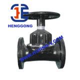 Válvula de diafragma pneumática da flange do Weir EPDM do ferro de molde de API/BS