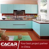 Valley Green Blue Stoving Verniz Lacquer MDF Kitchen Cabinet (CA09-08)