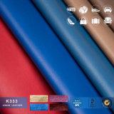 Couro sintético artificial do PVC da boa qualidade para materiais da pasta dos homens