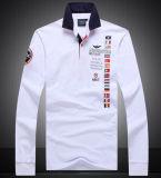 Fundas largas de calidad superior modificadas para requisitos particulares bordado y camisa de polo de la corrección del bordado
