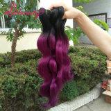 grado 8A che tesse i capelli del Malaysian di Ombre di estensioni dei capelli umani