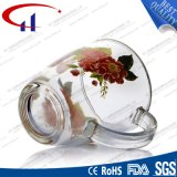 360ml Decal Flower Glass Water Mug (CHM8079)