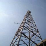 Torre de acero autosuficiente galvanizada del cedazo para la telecomunicación