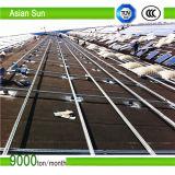 Flache Dachspitze-Sonnenkollektor-Montage/mit Ballast gebeladenes SolarRacks/PV Panel-Montage-System