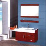 Cabina de cuarto de baño de madera montada en la pared al por mayor con el estante