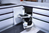 Armários feitos prontos da cozinha da laca elevada do lustro gabinetes de cozinha do metal branco
