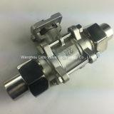 Válvula de bola de acero inoxidable 3PC CF8 con la manija de bloqueo