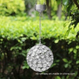 Lámpara decorativa colgante colorida de la bola cristalina con solar accionado