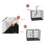Cage pliable de crabot avec le plateau d'ABS