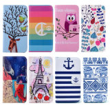 PU Leather Mobile/Cell Wallet Filp Print Phone Cover Fall Soem-Pattern Beautiful für iPhone 6