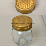 Vaso di vetro di figura differente per miele, alimento, salsa, ostruzione, memoria