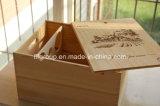 De naar maat gemaakte één-Fles Duidelijke Verpakking van de Wijn van het Venster Houten