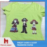 Inyección de tinta Papel de transferencia camiseta oscura de algodón