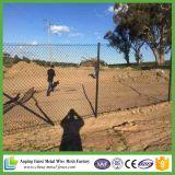 Загородка звена цепи черного порошка Coated дешевая для зеленой земли