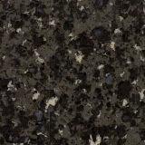 Pierre de marbre noire de quartz de couleur pour des dessus de vanité
