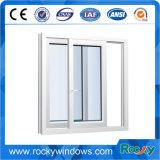 PVC/UPVC schiebendes Fenster mit Bildschirm-Netz mit Griff