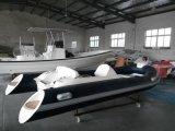 Liya 14ft Fiberglas-Rippen-kleines aufblasbares Boot mit Motor