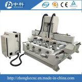 Máquina do router da gravura do CNC de 4 linhas centrais com os 4 giratórios